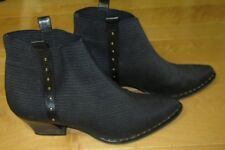 Prevata Wms Black Fashion Ankle Boots Made In Italy 6