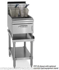 New 25 Lb Gas Deep Fryer Counter Top Stainless Steel Imperial Ifst-25 #4571 Nsf