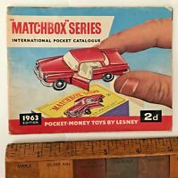 VINTAGE 1963 LESNEY MATCHBOX 1-75 TOY CAR CATALOGUE INTERNATIONAL EDITION VGC!!!