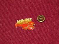 VINTAGE PIN PINBACK MAINE LOBSTER