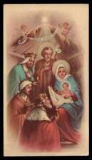 ADORATION OF THE MAGI - CRÈCHE Vtg HOLY CARD