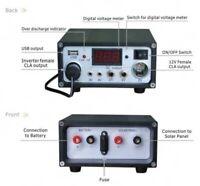 10AMP 12V SOLAR PANEL BATTERY CHARGE CONTROLLER 12VOLT DC SOCKETS, LVD, USB PORT