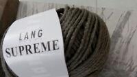 20 Knl. SUPREME WOLLE Merino Seide Cashmere Lang Yarns Taupe GRAU - BRAUN Luxus
