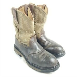 Ariat Men WorkHog Composite Toe Work Boot 8D Aged Bark Army Green 10001191 16922