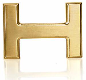 Gürtelschnalle Schnalle Gold Matt H 40mm für Wechselgürtel Wendegürtel Schließe