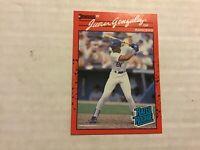 1990 DONRUSS REVERSE NEGATIVE ERROR JUAN GONZALEZ SHARP Texas Rangers
