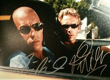 Paul Walker Vin Diesel The Fast and the Furious Signed Autographed 8x10 Photo