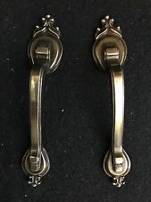 Excellent Pair of 2 Antique Brass Finish Cabinet Pulls
