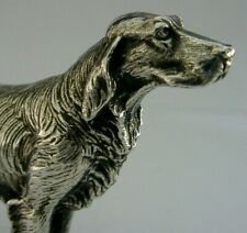 More details for quality english silver plated retriever gun dog figure c1950s hunting shooting