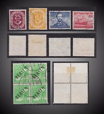 1948 TO 1952  GERMANY + BERLIN BLK 4  LOT USED SCT. 9N4 ,675, 683, 688, 690,
