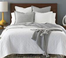 Sky Tile Matelasse 100% Cotton Quilted Pillow Sham Pair - STANDARD - Gray NIP