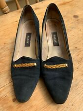 Bally women's navy suede shoes size 5.5