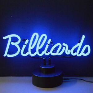 Neon BILLIARDS Table Lamp (Not LED) Bar Pub Mancave Sign Neonetics 4BLRDS 38cm!