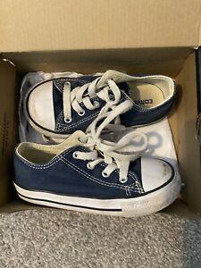 Infant Boys Navy Converse Size 8