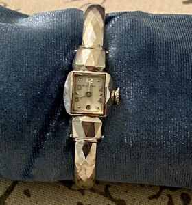 Vintage Bulova American Girl White Gold G.F. Ladies Watch