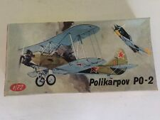 Vintage KP Plastikovy Model 1/72 Scale Polikarpov PO-2 Unbuilt New