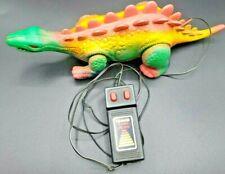 Vintage 1980 Stegasaurus Radio Shack Wired Remote Control Dinosaur Working