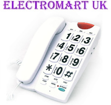 BIG BUTTON TELEPHONE PHONE HANDS FREE SPEAKER 10 MEMORY DESK OR WALL MOUNT