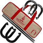 Budweiser Horseshoe Game Set 2 Poles Carrying Bag Case East Storage Outdoor Red