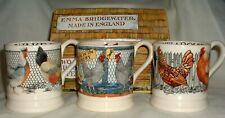 3 X EMMA BRIDGEWATER MUGS HEN & TOAST + YEAR IN COUNTRY HEN & FOX NEW 1ST BOXED