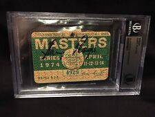 Gary Player Signed Official 1974 Masters Badge Official 3x Champion Knight BAS