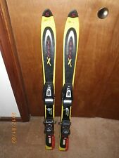 Pair of Salomon XFree Toddler Youth Kids Downhill Jr SKIS w/ Bindings 100 cm