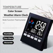 Digital Alarm Clock Weather Thermometer Humidity Calendar LCD Display Electronic