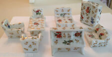 ❤️Limoges France Miniature Dollhouse Furniture Doll Set 8 Sofa Bed Chair Piano❤️