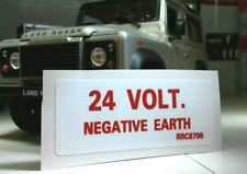 Land Rover Defender 90 110 Militar Wolf 24v Ffr Neg Tierra Pegatina RRC8706