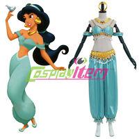 Adult Aladdin Jasmine Princess Dress Costume Halloween Party Cosplay Costume