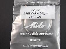 Watch Crystal Mido Grey Radium Tensn Ring Ref#40 Waterproof Vintage 30.90mm NOS