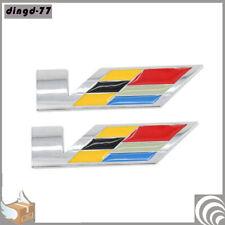Metal Logo For Cadillac V Emblem Car Fender Rear Trunk Badge ATS XTS CT--6 XT5