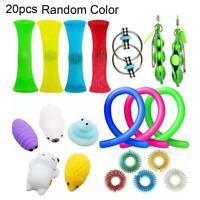 20Pcs  Fidget Toys Set Sensory Tools Bundle Stress Relief Hand Kids Adults Toy