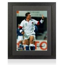 Rory Underwood Signed England Rugby Photo In Black Wooden Frame Autograph