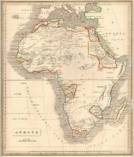 1848 Ca ANTIQUE  MAP-H/COL- CONTINENT OF AFRICA