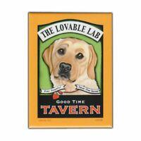 "Retro Pets Magnet Good Time Tavern Yellow Lab Dog Labrador Retriever 2.5"" x 3.5"""