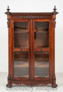Antique French Display Cabinet - Carved Bijouterie 1880