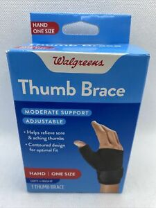 Walgreens Thumb Stabilizer Adjustable Hand Brace- One Size - Left or Right