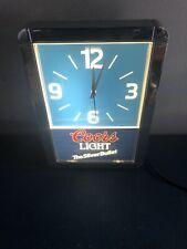 (VTG) Coors Light Beer Silver Bullet Light Up Back Bar Illuminated Clock NEW BAR