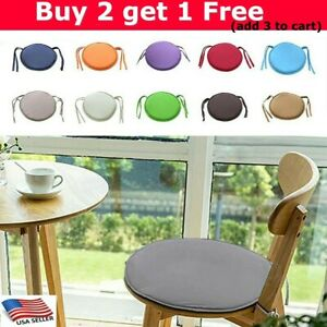 US Round Garden Chairs Pads Seat Cushion Outdoor Bistro Stool Patio Home Durable