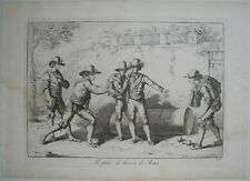 1815 BARTOLOMEO PINELLI GAME OF BOCCIA - BOCCE ITALIAN BOWLING COSTUMES OF ITALY