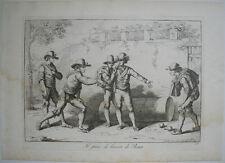 1815 BARTOLOMEO PINELLI GIOCO DI BOCCIA-Bocce Bowling ITALIANO COSTUMI D'ITALIA