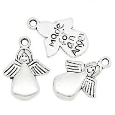 Silver Angel Charms Made For An Angel Jewelry Holiday 5/8 inch Lot of 20