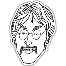 "The Beatles John Lennon Vinyl Car Sticker Decal 5"" x 4"""