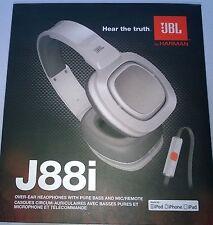 JBL J88i Over-Ear DJ-Kopfhörer mit iPhone Steuerung, weiß Neu, OVP, Rechnung