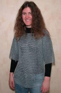 Kettenhemd Kurzarm verzinkte Ringe Sonderpreis Größe XL
