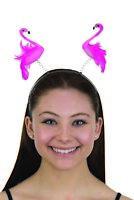 Fun Flamingo Boppers Headband Springy Animal Bird Pink Headpiece Hair Accessory