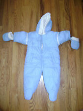 CHILDREN'S PLACE BUNTING SUIT SNOW BIB MITTENS size 6-9 M BOYS BLUE STUNNING
