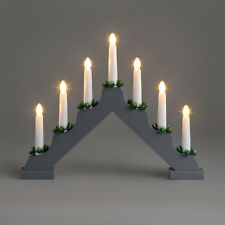 Candle Bridge Light Christmas Decoration Battery Operated Wooden Warm White LED