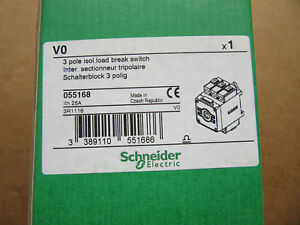 Schneider 055168, 3 Pole Load Break Switch 3R1116 NEW!!! in Box Free Shipping